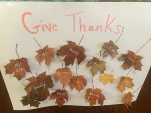 thankful leaf craft, thanksgiving craft, fall art, senior living activity, willows of ramsey hill
