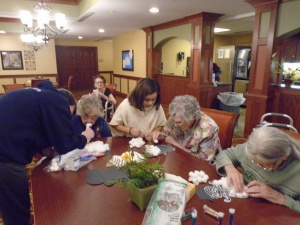 Craft Time-Willows of Ramsey Hill-assisting the tenants